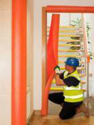 protect corners, protect handrails, foam protection tubes
