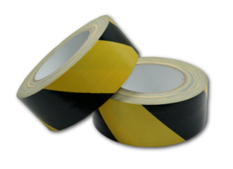 Hazard Tape Black / Yellow 48mm x 30m