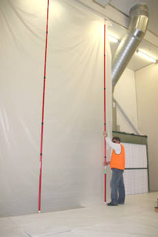 High Ceiling Zip Wall Poles Kit of 2